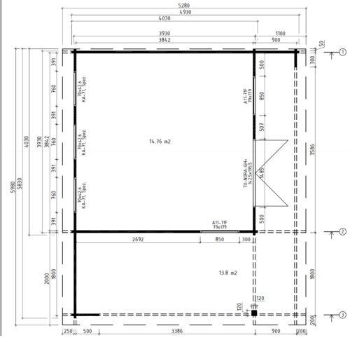 Hansa Lounge XL põrandaplaan