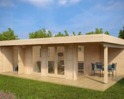 Luxury-Summer-House-with-Storage-Room-Hansa-Lounge-XXL
