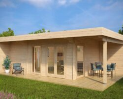Summer-House-with-Sauna-Hansa-Lounge-XXL