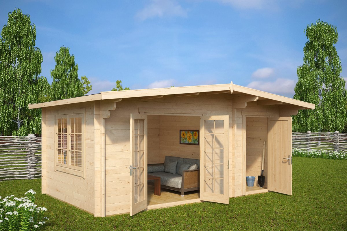 Aiamaja kuuriga super otto 15m 44mm 5 x 3 m for House with shed