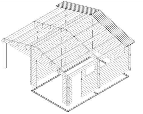 Garaaž + katusealune aeda