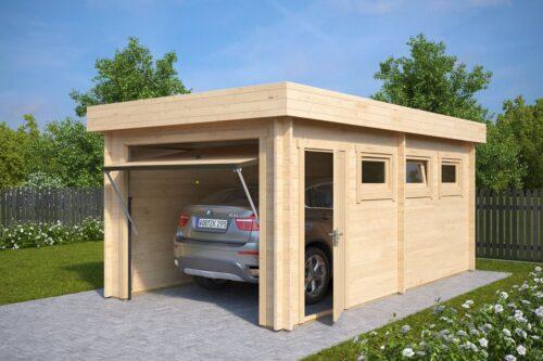 Väike puidust garaaž