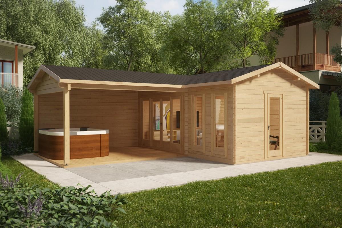 aiamaja suure verandaga hansa corner b 18m 6 x 3 m 44mm aiamaja24 aiamajad m k ja ehitus. Black Bedroom Furniture Sets. Home Design Ideas