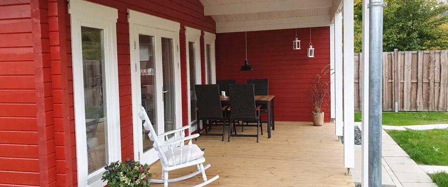 "Suvila ""Holiday A""  Airbnb külalistemajana Saksamaal,  Perf"