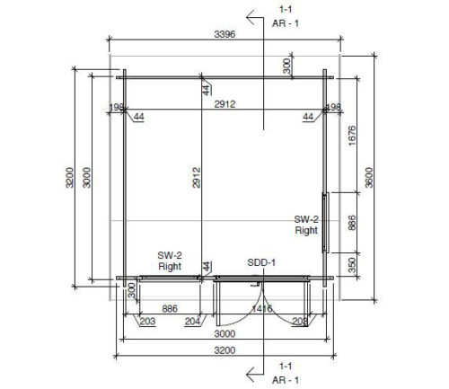 Mini Aiabüroo I DS detailplaan