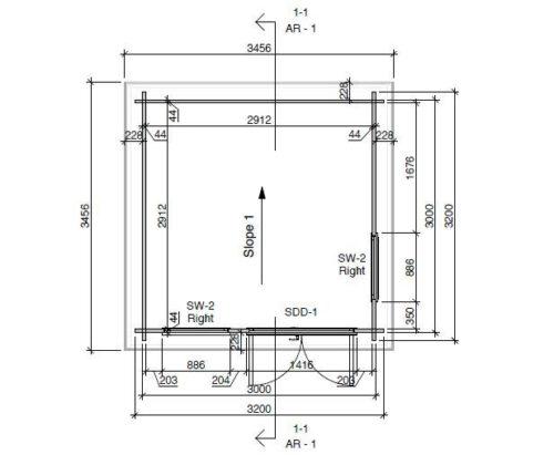 Mini Aiabüroo II DS detailplaan
